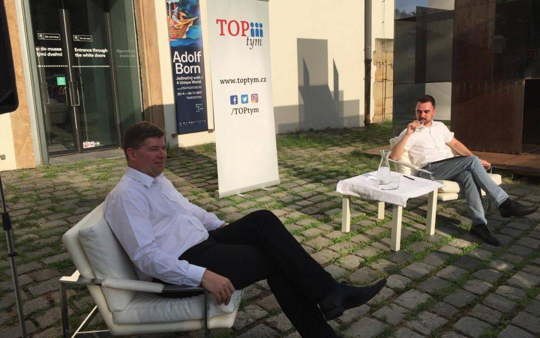 TOP debata s Jiřím Pospíšilem se tentokrát konala v Museu Kampa
