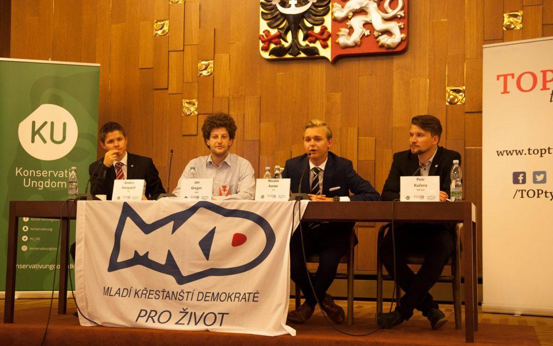 Setkání TOP týmu se členy dánské mládeže Konservativ Ungdom