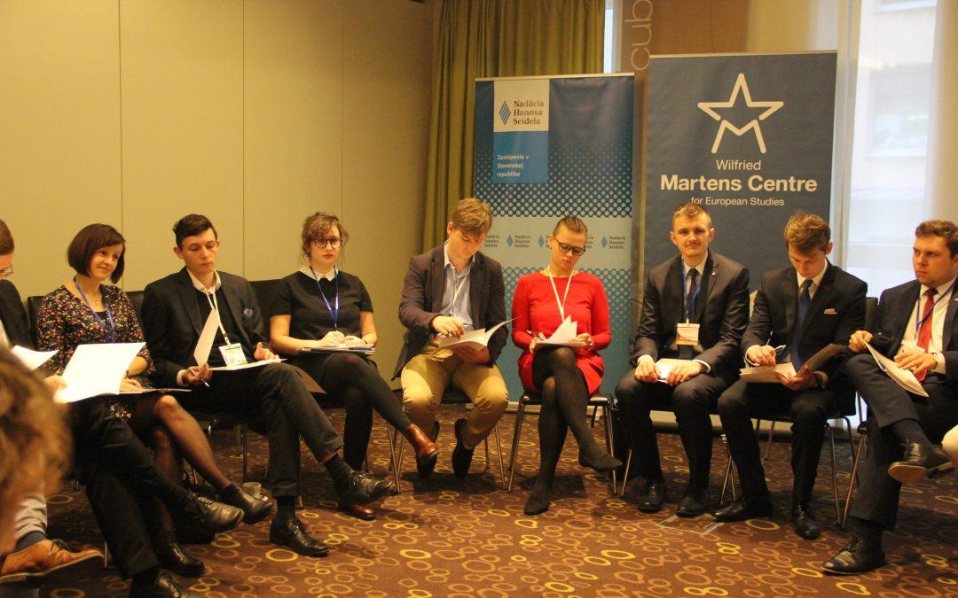 TOP tým na Politické akademii zástupců mládežnických organizací V4 v Bratislavě