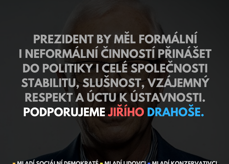 Mladí podporují Jiřího Drahoše